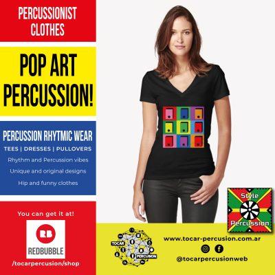 DiseñoStyle Percussion Wear - Color + Rhythm + Percussions originales y divertidos - Ritmo + Color + Percusión